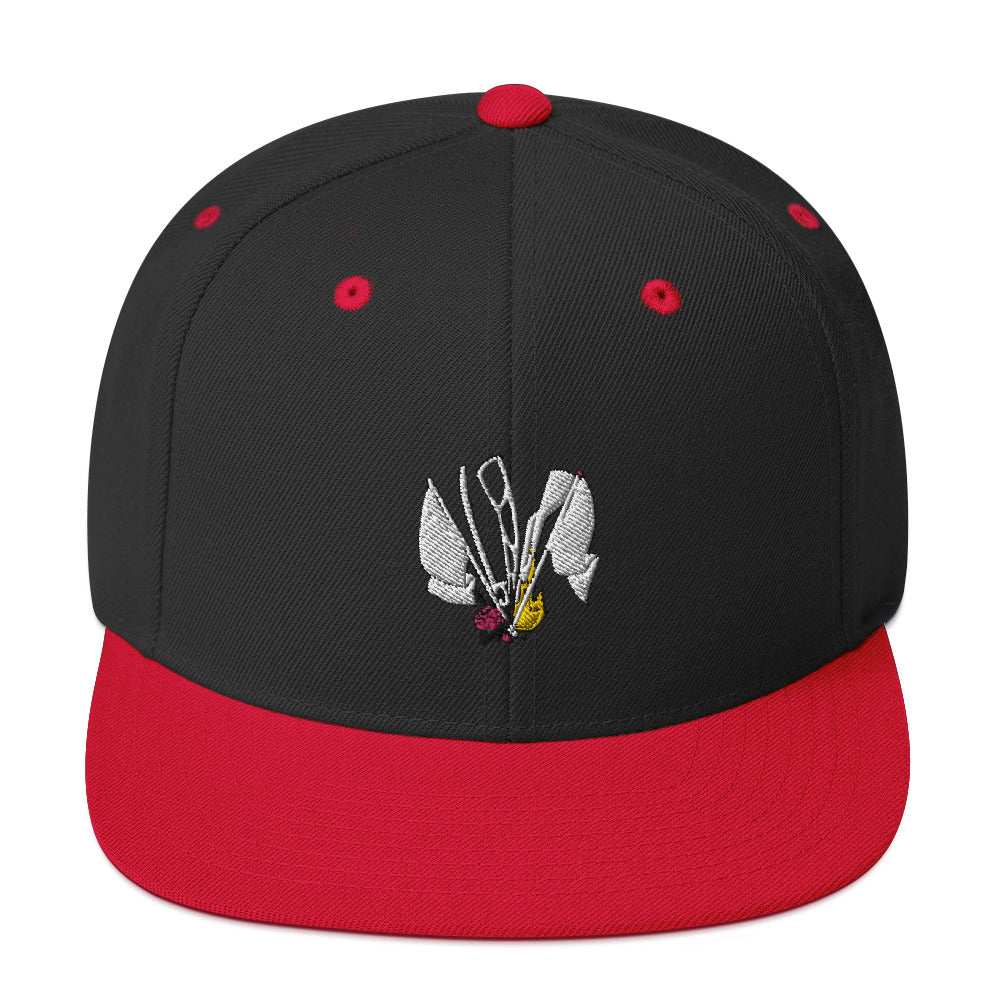 Color Guard Fire Snapback Hat-Marching Arts Merchandise-Black/ Red-Marching Arts Merchandise