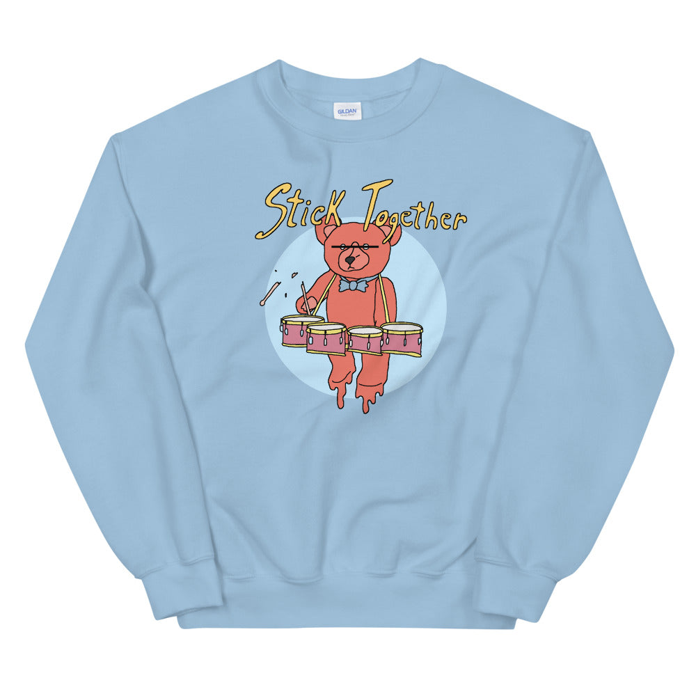 Teddy Tenor Percussion Unisex Sweatshirt-Marching Arts Merchandise-Light Blue-S-Marching Arts Merchandise