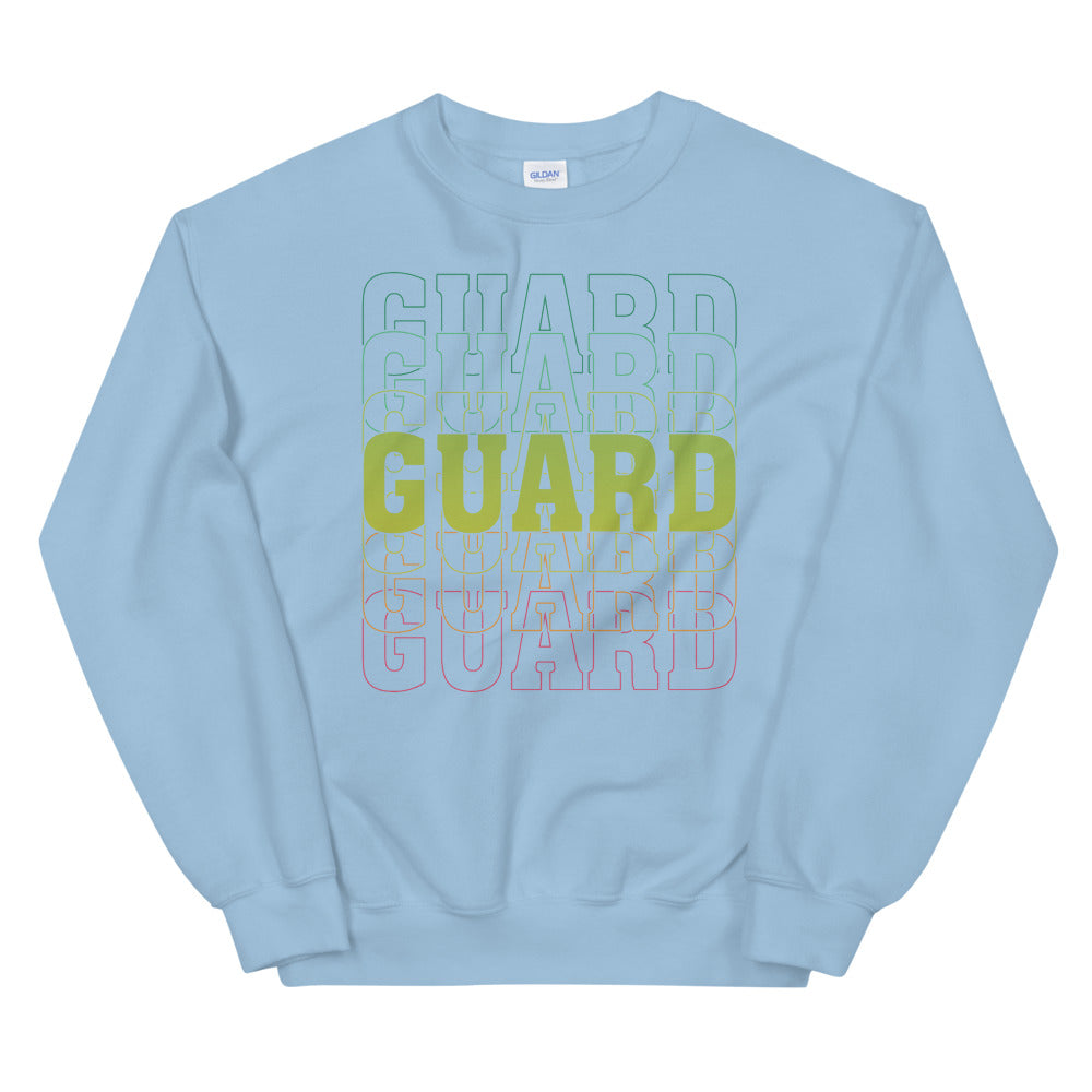 Color Guard On Color Guard Unisex Sweatshirt-Marching Arts Merchandise-Light Blue-S-Marching Arts Merchandise