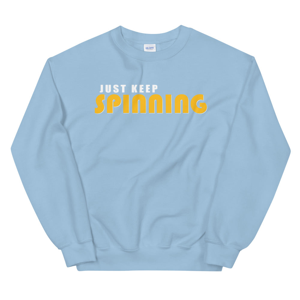 Just Keep Spinning Unisex Sweatshirt-Marching Arts Merchandise-Light Blue-S-Marching Arts Merchandise