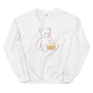 Neon Teddy Snare Percussion Unisex Sweatshirt-Marching Arts Merchandise-White-S-Marching Arts Merchandise