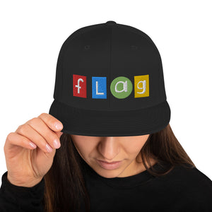 Flag Snapback Hat-Marching Arts Merchandise-Marching Arts Merchandise