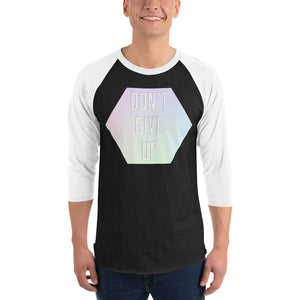 Don't Give Up 3/4 Sleeve Raglan Shirt-Marching Arts Merchandise-Marching Arts Merchandise
