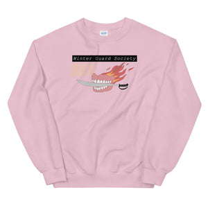 Winter Guard Saber Color Guard Unisex Sweatshirt-Marching Arts Merchandise-Light Pink-S-Marching Arts Merchandise