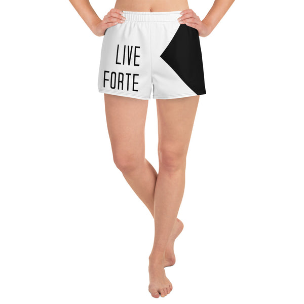Live Forte Women's Athletic Short Shorts - Marching Arts Merchandise -  - Marching Arts Merchandise - Marching Arts Merchandise - band percussion color guard clothing accessories home goods