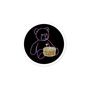 Neon Teddy Snare Percussion Bubble-Free Stickers-Stickers-Marching Arts Merchandise-3x3-Marching Arts Merchandise