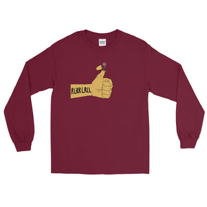 RLRR Flower Percussion Long Sleeve Shirt-Marching Arts Merchandise-Maroon-S-Marching Arts Merchandise