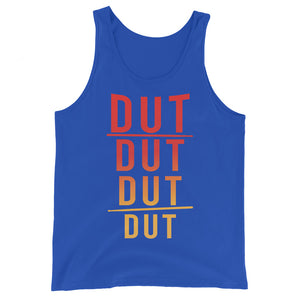 DUT DUT DUT DUT Percussion Unisex Tank Top-Marching Arts Merchandise-True Royal-XS-Marching Arts Merchandise