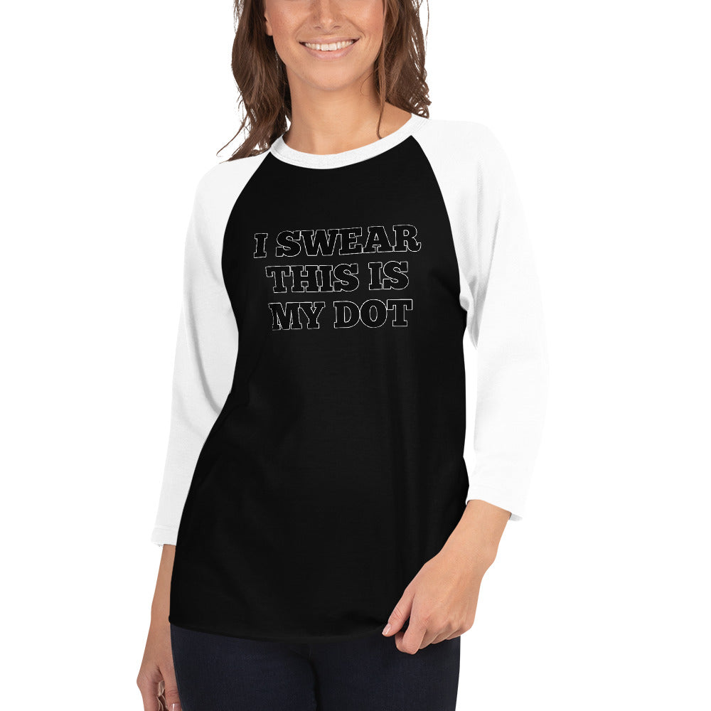 My Dot Marching Band 3/4 Sleeve Raglan Shirt-Baseball Tee-Marching Arts Merchandise-Black/White-XS-Marching Arts Merchandise