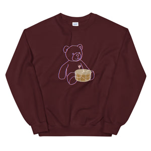 Neon Teddy Snare Percussion Unisex Sweatshirt-Marching Arts Merchandise-Maroon-S-Marching Arts Merchandise