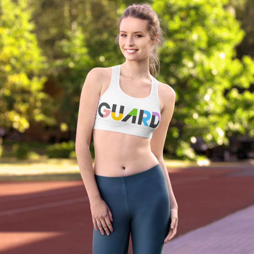 Color Block Guard Color Guard Sports Bra-Sports Bra-Marching Arts Merchandise-Marching Arts Merchandise