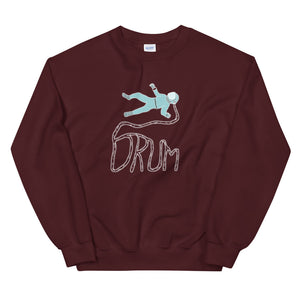 Astro Drum Percussion Unisex Sweatshirt-Marching Arts Merchandise-Maroon-S-Marching Arts Merchandise