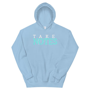 Take Notes Marching Band Unisex Hoodie-Marching Arts Merchandise-Light Blue-S-Marching Arts Merchandise