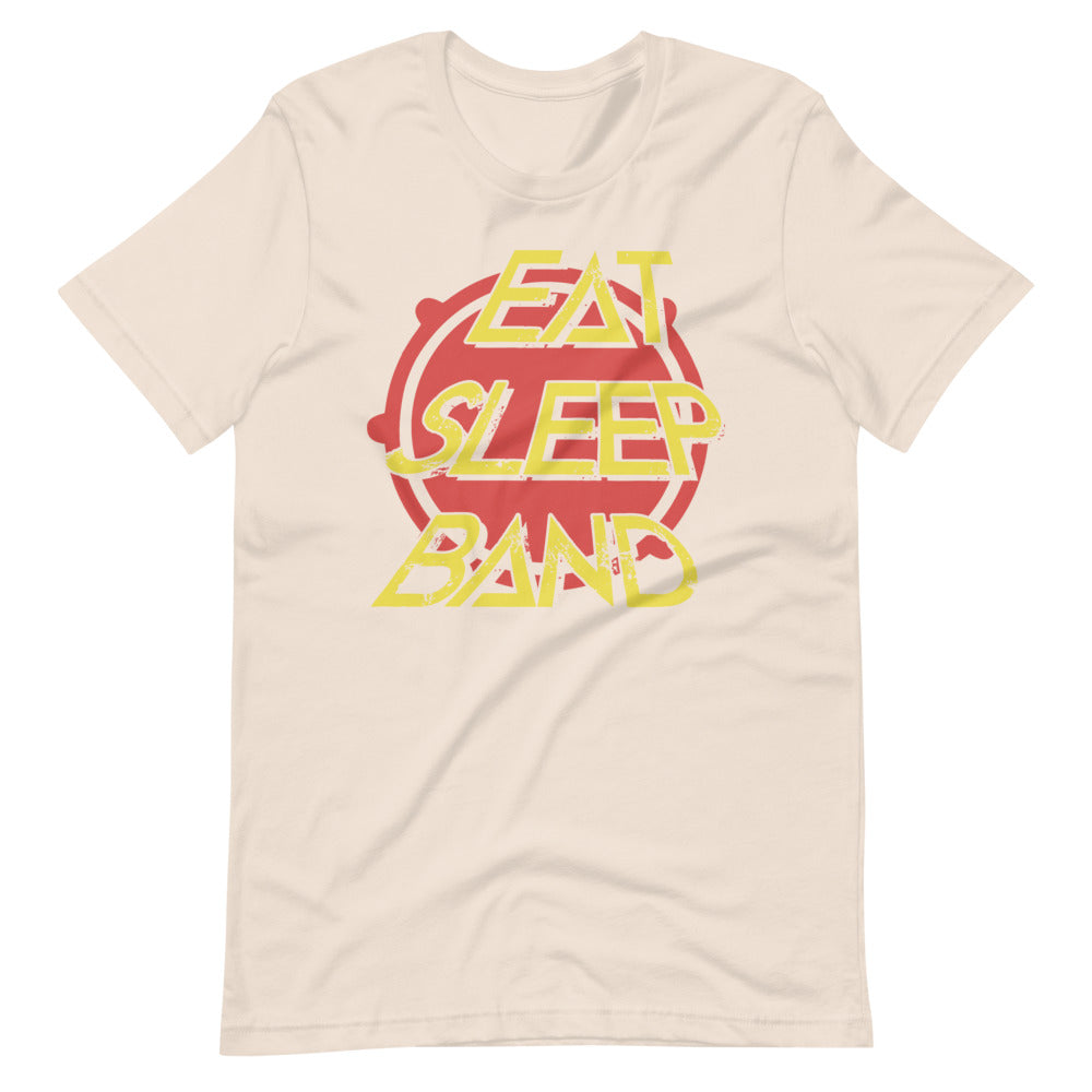 Eat Sleep Band Marching Band Short-Sleeve Unisex T-Shirt-Marching Arts Merchandise-Soft Cream-S-Marching Arts Merchandise