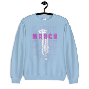 March Trumpet Marching Band Unisex Sweatshirt-Marching Arts Merchandise-Marching Arts Merchandise