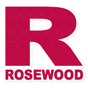 Rosewood Bubble-Free Stickers-Marching Arts Merchandise-5.5x5.5-Marching Arts Merchandise