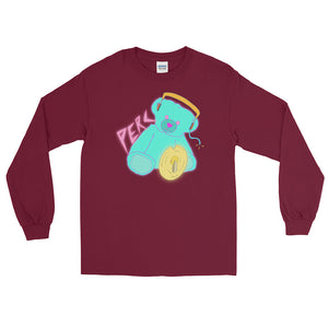 Neon Teddy Cymbal Percussion Long Sleeve Shirt-Marching Arts Merchandise-Maroon-S-Marching Arts Merchandise