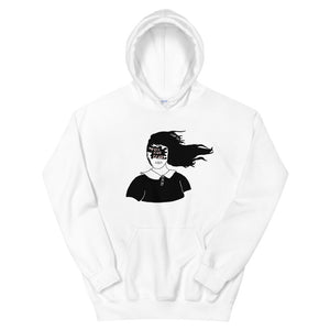 Toss Your Fears Girl Color Guard Unisex Hoodie-Marching Arts Merchandise-White-S-Marching Arts Merchandise