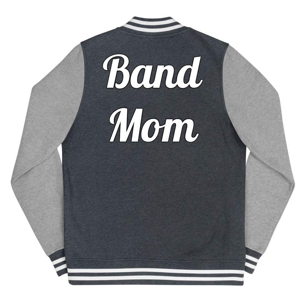 Band Mom Band Parent Women's Letterman Jacket-Jacket-Marching Arts Merchandise-Marching Arts Merchandise