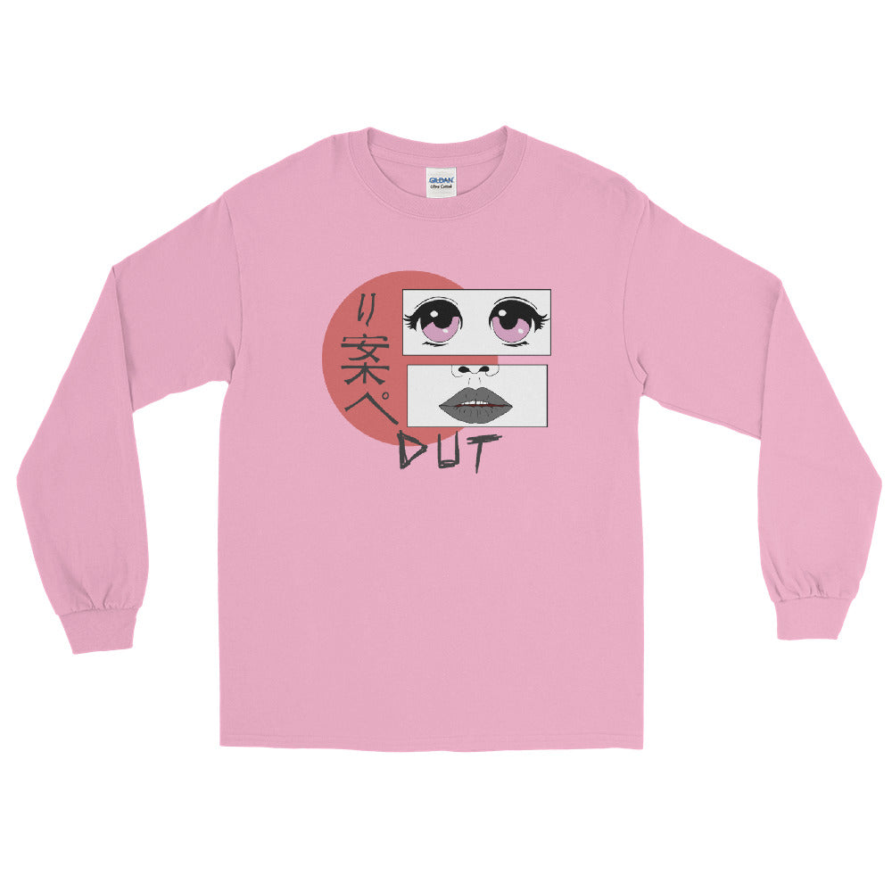Anime Dut Percussion Long Sleeve Shirt-Marching Arts Merchandise-Light Pink-S-Marching Arts Merchandise