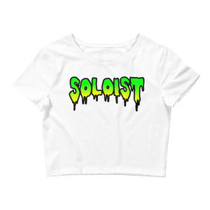 Soloist Women's Crop Tee-Marching Arts Merchandise-White-XS/SM-Marching Arts Merchandise