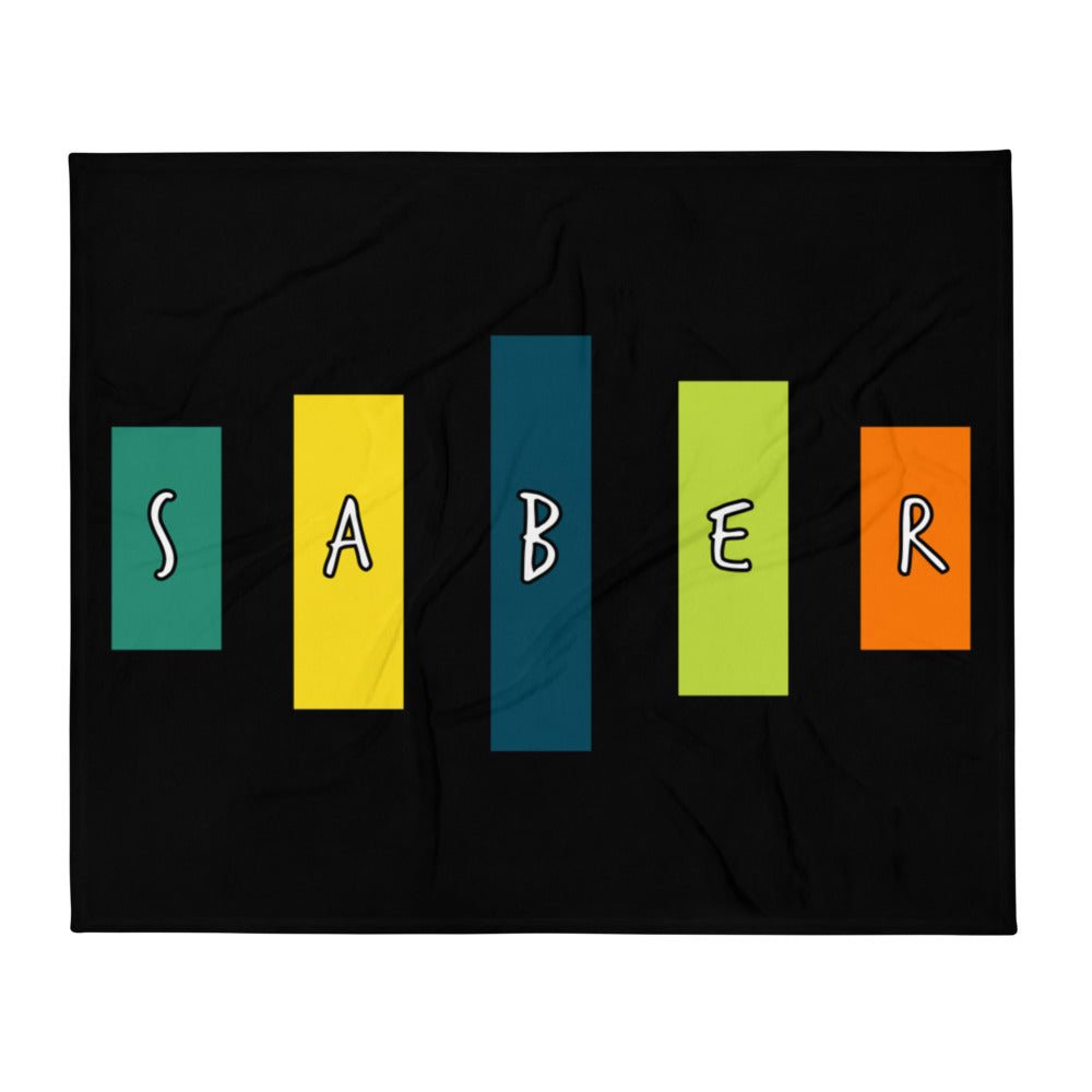 Retro Saber Throw Blanket-Marching Arts Merchandise-Marching Arts Merchandise