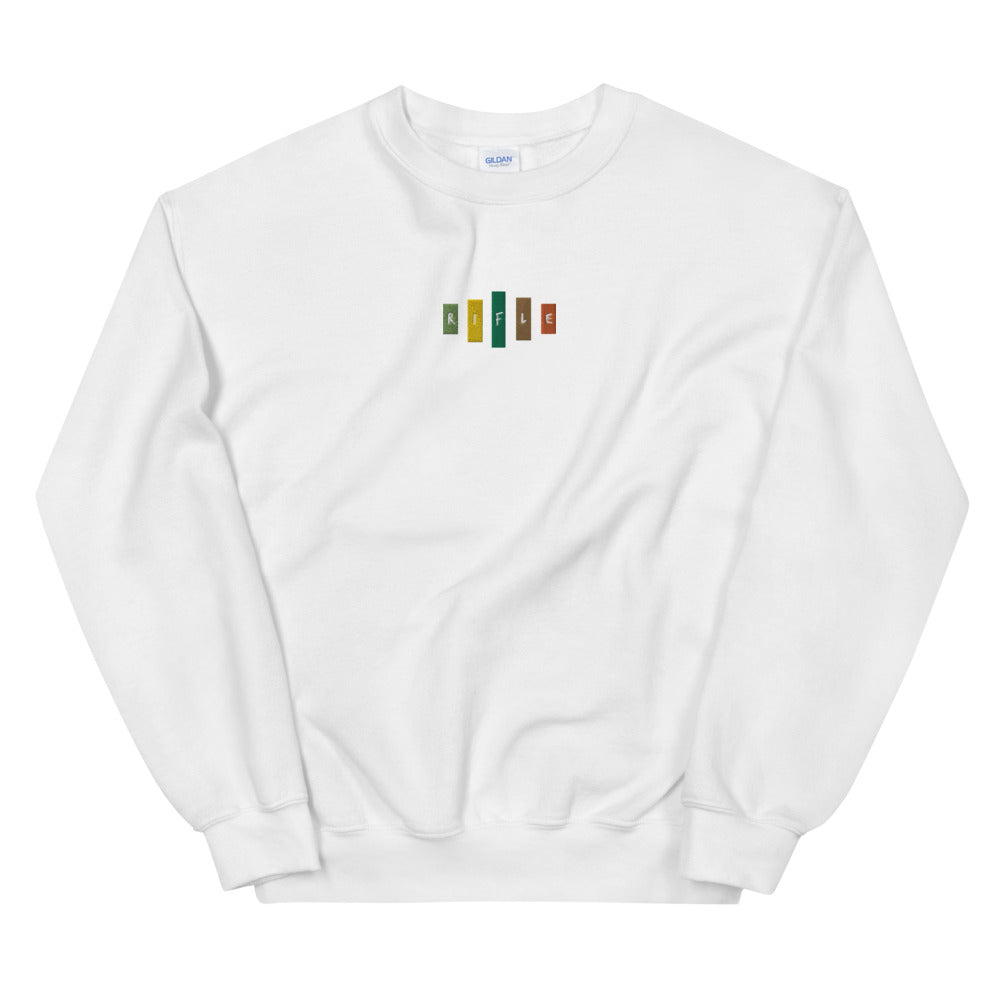 Retro Rifle Unisex Sweatshirt-Marching Arts Merchandise-White-S-Marching Arts Merchandise