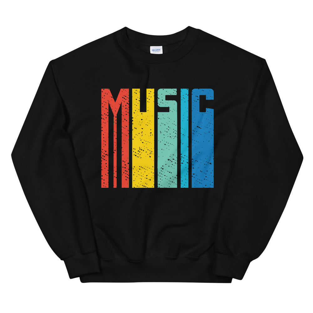 Retro Music Marching Band Unisex Sweatshirt-Marching Arts Merchandise-Black-S-Marching Arts Merchandise