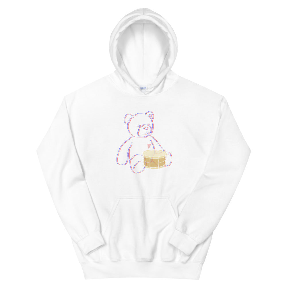 Neon Teddy Snare Percussion Unisex Hoodie-Marching Arts Merchandise-White-S-Marching Arts Merchandise