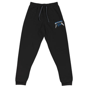 Rifle On Fire Unisex Joggers-Marching Arts Merchandise-Black-S-Marching Arts Merchandise