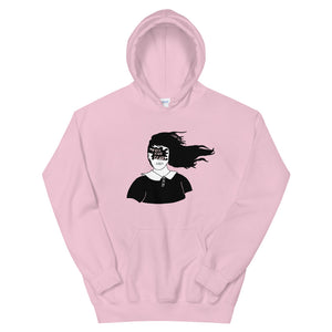 Toss Your Fears Girl Color Guard Unisex Hoodie-Marching Arts Merchandise-Light Pink-S-Marching Arts Merchandise