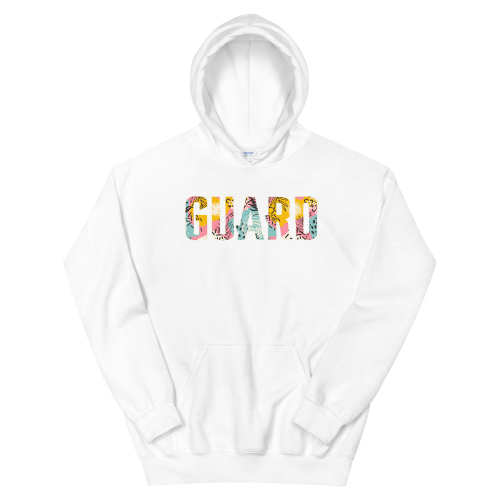 90s Color Guard Unisex Hoodie-Marching Arts Merchandise-White-S-Marching Arts Merchandise