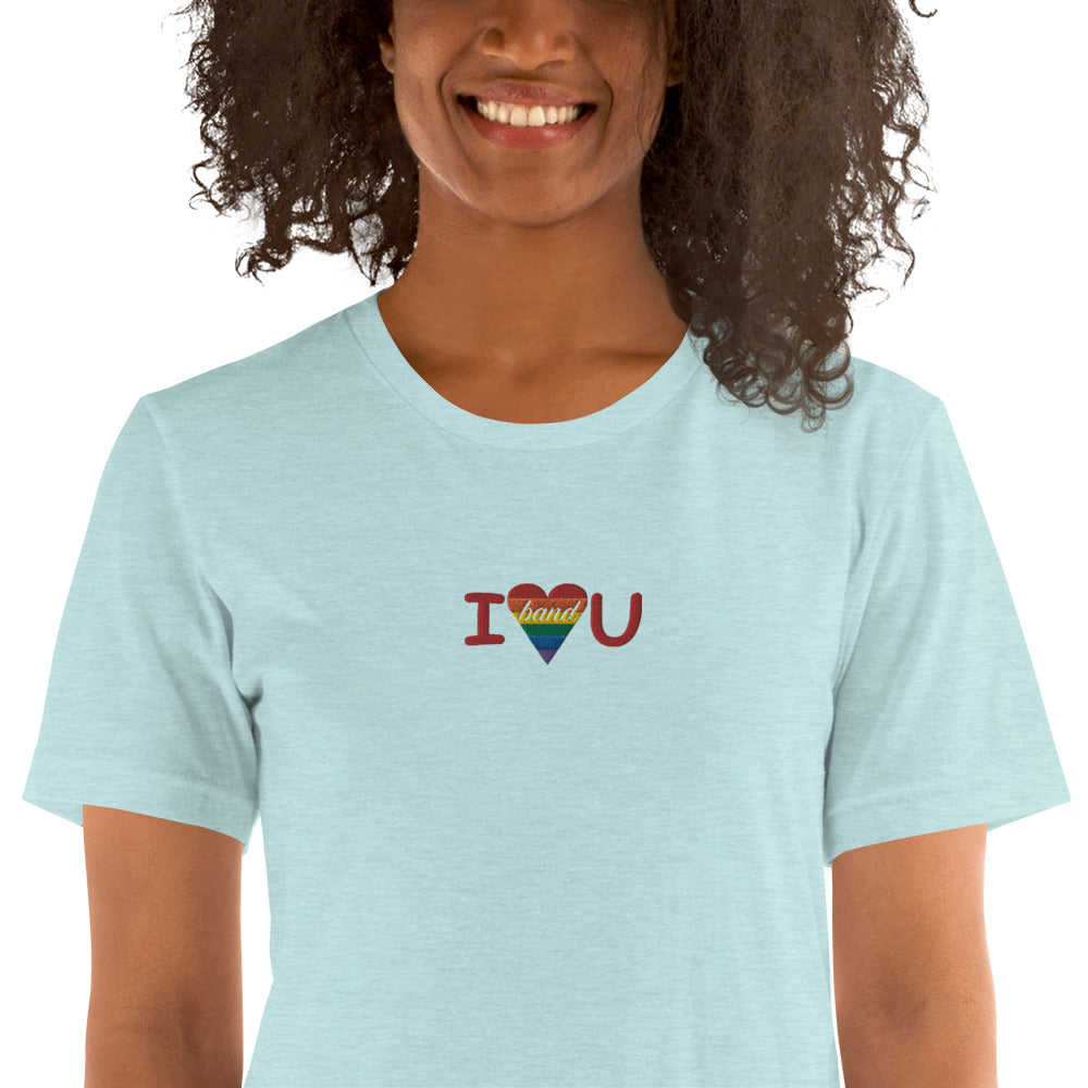 I Heart You Band Embroidered Unisex T-Shirt-Marching Arts Merchandise-Marching Arts Merchandise