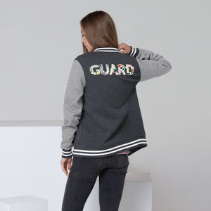 Color Guard Floral Women's Letterman Jacket-Marching Arts Merchandise-S-Marching Arts Merchandise