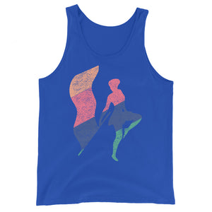Texture Color Guard Unisex Tank Top-Marching Arts Merchandise-True Royal-XS-Marching Arts Merchandise