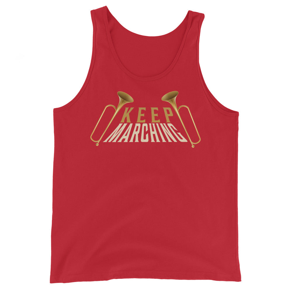 Keep Marching Band Unisex Tank Top-Marching Arts Merchandise-Red-XS-Marching Arts Merchandise