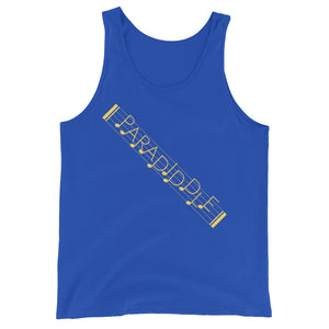 Paradiddle Strap Percussion Unisex Tank Top-Marching Arts Merchandise-True Royal-XS-Marching Arts Merchandise