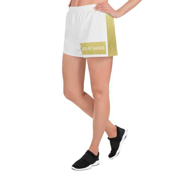 Break Ranks Women's Athletic Short Shorts - Marching Arts Merchandise -  - Marching Arts Merchandise - Marching Arts Merchandise - band percussion color guard clothing accessories home goods