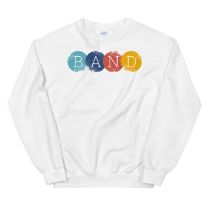 Band Circles Marching Band Unisex Sweatshirt-Marching Arts Merchandise-White-S-Marching Arts Merchandise