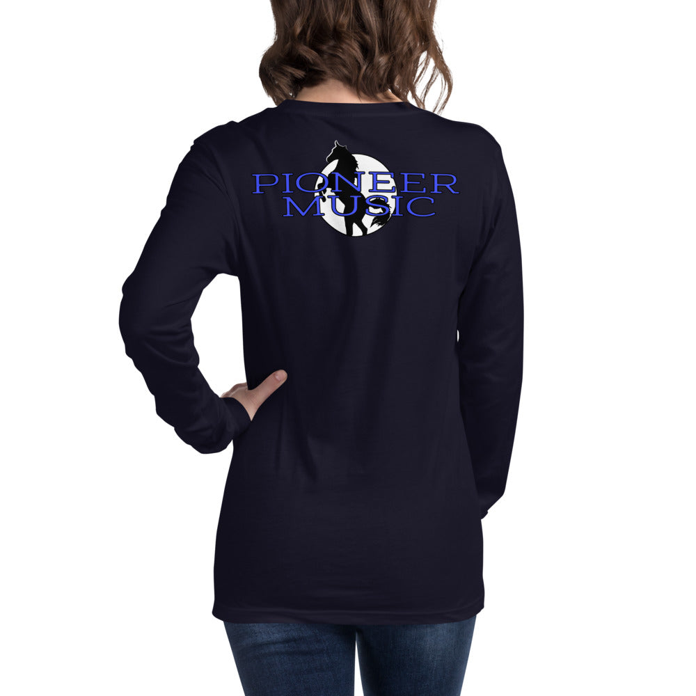 Pioneer Music Unisex Long Sleeve Tee-Marching Arts Merchandise-Navy-XS-Marching Arts Merchandise
