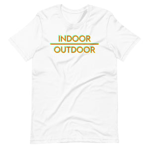 Indoor Over Outdoor Short-Sleeve Unisex T-Shirt-Marching Arts Merchandise-White-XS-Marching Arts Merchandise