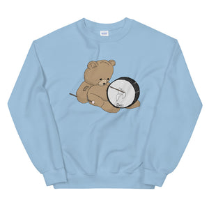 Teddy Bass Unisex Sweatshirt-Marching Arts Merchandise-Light Blue-S-Marching Arts Merchandise