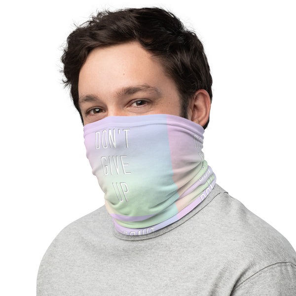 Don't Give Up Neck Gaiter - Marching Arts Merchandise -  - Marching Arts Merchandise - Marching Arts Merchandise - band percussion color guard clothing accessories home goods