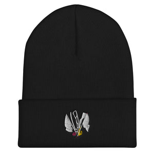 Color Guard Fire Cuffed Beanie-Marching Arts Merchandise-Black-Marching Arts Merchandise