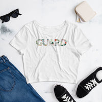 Color Guard Floral Women's Crop Tee - Marching Arts Merchandise -  - Marching Arts Merchandise - Marching Arts Merchandise - band percussion color guard clothing accessories home goods