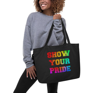 Show Your Pride Marching Band Large Organic Tote Bag-Tote Bag-Marching Arts Merchandise-Marching Arts Merchandise