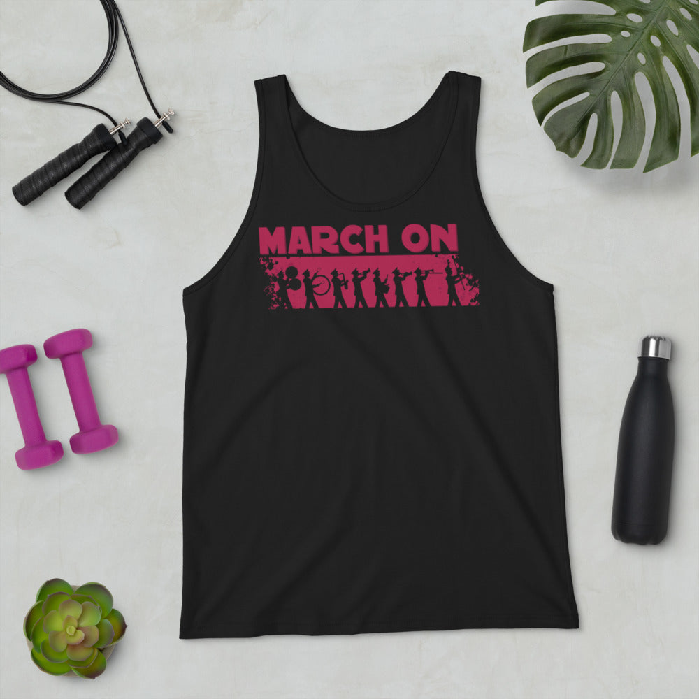 March On Marching Band Unisex Tank Top-Marching Arts Merchandise-Marching Arts Merchandise