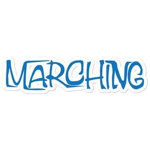 Marching Cartoon Bubble-Free Stickers-Marching Arts Merchandise-5.5x5.5-Marching Arts Merchandise