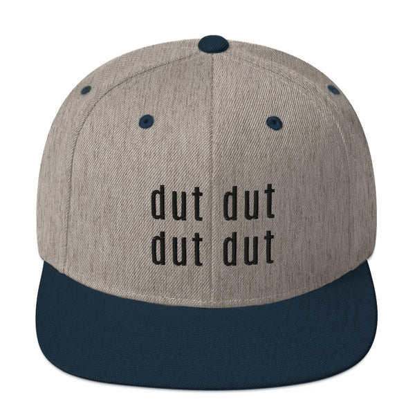 Dut Dut Embroidered Snapback Hat - Marching Arts Merchandise -  - Marching Arts Merchandise - Marching Arts Merchandise - band percussion color guard clothing accessories home goods
