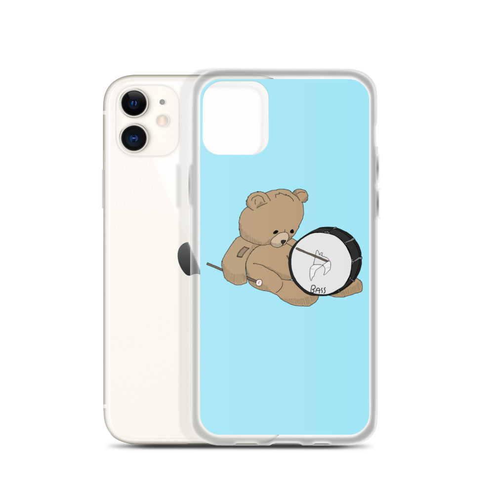 Teddy Bass Percussion iPhone Case-Marching Arts Merchandise-Marching Arts Merchandise